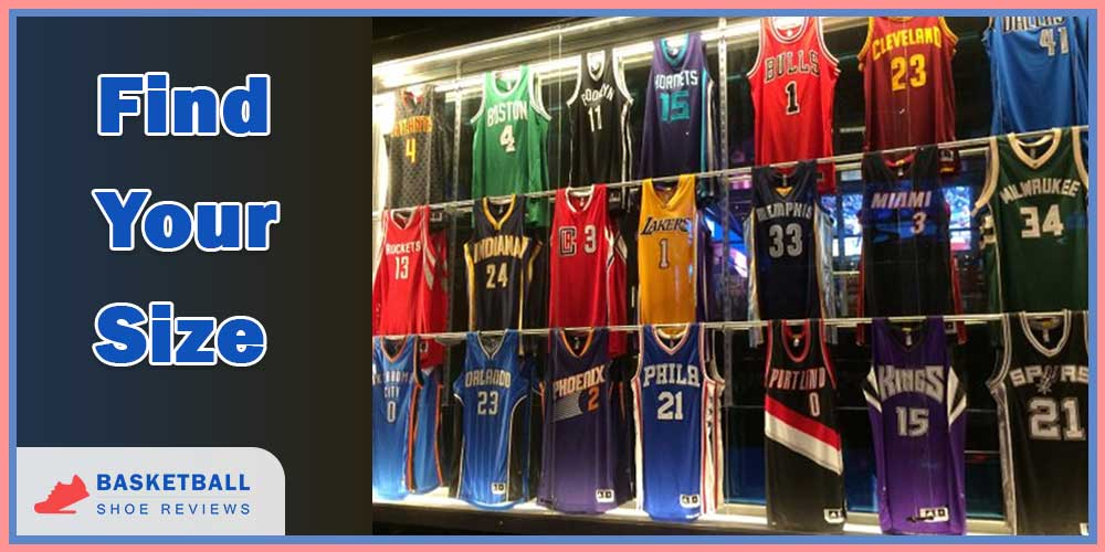 find your nba jersey size